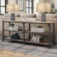 Neligh Console Table - All About Decoration Sofa Table Decor, Couch Table, Sofa Tables, Table Decorations, Console Tables, Entryway Tables, Table Furniture, Accent Table Decor, Furniture Design