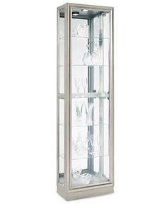 Platinum Curio Cabinet, Side Entry