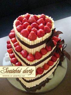 svatební dort s ovocem - Hledat Googlem