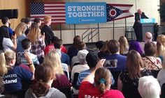 Trump 'cornerstone is bigotry': Sanders and Warren take on Clinton's Ohio fight As Donald Trump takes a polling lead in a crucial swing state, Clinton campaign dispatches popular progressive senators to speak to young voters