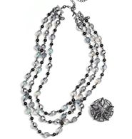 FOREVER selected by Paula Abdul Shimmer Bead Convertible Necklace