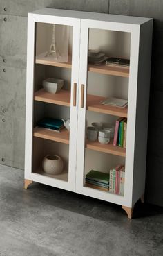 Think about the glass cabinet Storage Cabinets, Storage Shelves, Shelving, Wood Furniture, Living Room Furniture, Furniture Design, Furniture Plans, System Furniture, Garden Furniture
