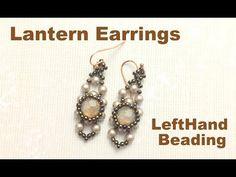 Lantern earrings--Beading Tutorial - YouTube