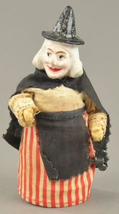 MECHANICAL WITCH TOY : Lot 1387