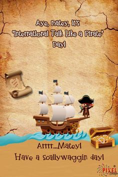 It's International Talk Like a Pirate Day and this is Angie Dregg here, the ol' sea-dawg doing the heave ho on me posts today. Avast, me hearties, sing a salty sea shanty and have a jolly Thursday! Pirate Talk, Ahoy Matey, Pirates, Singing, Ol, Thursday, Posts, Boutique, Messages
