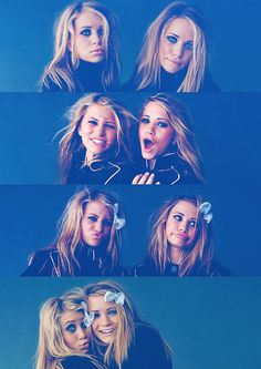 cool idea for sibling photography // Mary Kate and Ashley Olsen