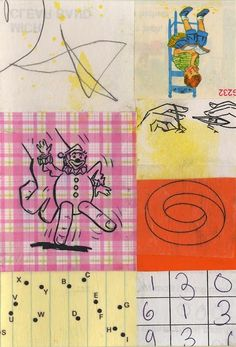 A Collage A Day: The Finger Puppet collage by Randel Plowman