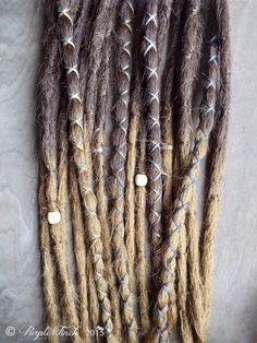 DE Handrolled Wool Long Dreadlocks BARISTA