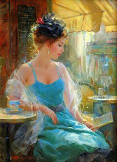 Born in Moscow, Konstantin Razumov / Константин Разумов studied at the Ilya Glazunov Russian Academy of Painting, Sculpture and Architecture, where his historical paintings achieved great acclaim.  Razumov is a brilliant impressionist painter and has painted all kinds of subjects, from figures to landscapes, young ballerinas, children and charming russian ladies in gardens and meadows.