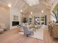The flooring and ceiling are amazing in this coastal home in Naples, FL.