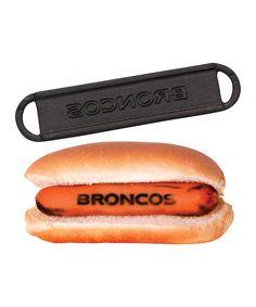 Denver Broncos Hot Dog Barbecue Brander | Daily deals for moms, babies and kids