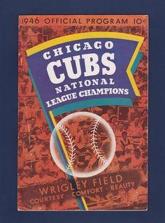 Chicago Cubs vs Pittsburgh Pirates 1946 baseball scorecard