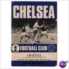 Chelsea v Arsenal 1970/71 Division 1 Football Programme