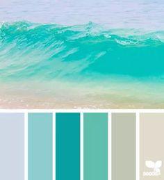 Color Wave Color Palette #ocean