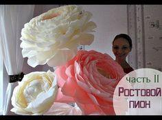 Flores de papel. Peony gigante (papel de crepe). Parte 1. - YouTube