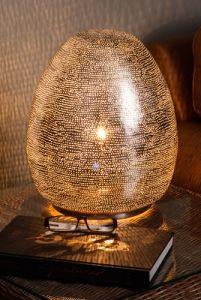 Filigree Metal Table/Floor Lamp - On