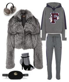 """Athletic G L A M"" by molauren on Polyvore featuring Michael Kors, Puma, Saks Fifth Avenue, Gucci and Fendi"
