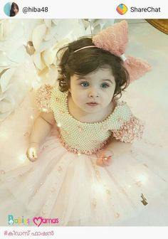 and baby hijab (notitle)<br> Small Cute Babies, Cute Little Boys, Cute Kids, Baby In Wedding Dress, Baby Girl Birthday Dress, Beautiful Baby Pictures, Cute Baby Girl Pictures, Cute Baby Dresses, Little Girl Dresses