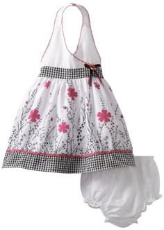 Youngland Baby-girls Infant Border Print Halter « Dress Adds Everyday