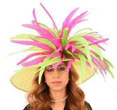 Green Woodpecker Hat for Kentucky Derby Weddings by Hatsbycressida