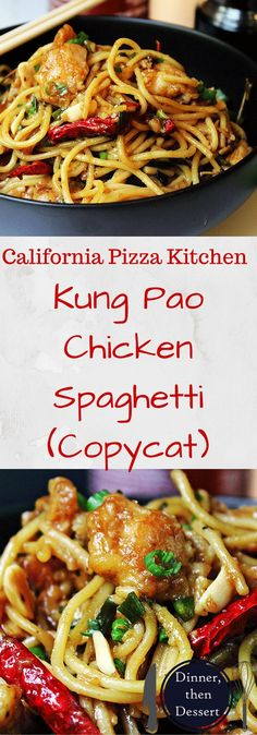 Deliciously spicy and sweet, this Kung Pao Chicken Spaghetti is a fan favorite and all time best seller from California Pizza Kitchen that you can make at home and with my adjustments enjoy it with about half the calories and ALL the taste! @eatsnsweets
