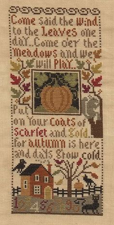 Prairie Schooler Autumn Leaves - chart from 2006 and now OOP - why am I just discovering it now?