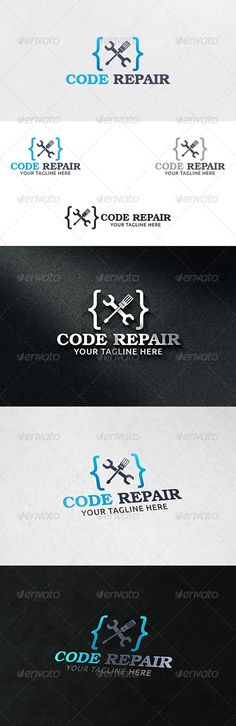 Code Repair - Logo Template  #GraphicRiver         100% Vector  File Format : EPS   Color Mode : CMYK   Font used : TeX Gyre Bonum  Download Link :  .fontsquirrel /fonts/TeX-Gyre-Bonum                      Created: 6 December 13                    Graphics Files Included:   Vector EPS                   Layered:   No                   Minimum Adobe CS Version:   CS                   Resolution:   Resizable             Tags      application #code logo #code tools #coding #debug #designing…