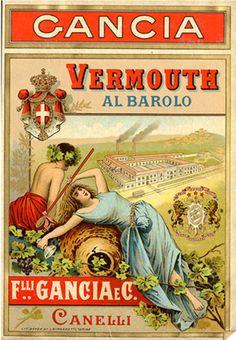 Vermouth al barolo Gancia - Italia vintage vermouth poster