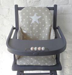 """Last Pinner: """"★☆★  Demeure des Anges  Coussin de chaise haute en coton enduit"""" :: If this is new, it definitely has a vintage look!"""