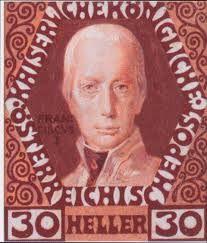Austria stamp - Emperor Francis I Koloman Moser
