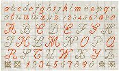 Alphabet 01 - a wealth of crosstitch patterns on gancedo.eu