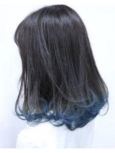 アンククロスガウディ(ANKH CROSS gaudy) 《ankhcross 原島裕八》ダ. Long Hair Highlights, Hair Color Streaks, Hidden Hair Color, Cool Hair Color, Hair Colour, Korean Hair Color Ombre, Blue Tips Hair, Hair Tips, Hair Ideas