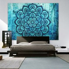 Purchase Fashion bohemian blanket mandala carpet flower tapestry wall hanging decoration dark green flower from Sulida Incorporation on OpenSky. Bohemian Wall Tapestry, Tree Tapestry, Indian Tapestry, Mandala Tapestry, Tapestry Wall Hanging, Mandala Throw, Bohemian Decor, Cool Tapestries, Blue Lotus Flower