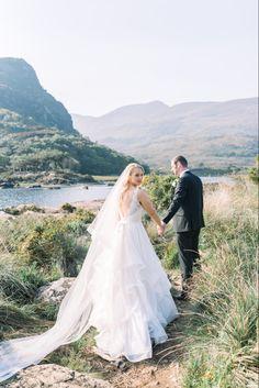 Ancient Ireland makes for amazing backdrop for weddings. Irish Wedding, Real Weddings, Fairy Tales, Ireland, Backdrops, Wedding Photography, Elegant, Wedding Dresses, Amazing