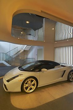 showcasing your luxury car in your own crib...