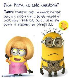 Casatoria. Femeia adopta copil mare Minions, Motorcycles, Meme, Humor, Cars, Sweet, Funny, Cheer, Memes