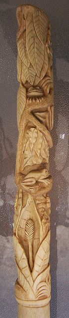 Rain Forest 004 | by StixnCanes - a hand carved walking stick on Sycamore.