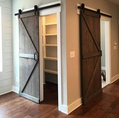 These custom made sliding barn doors will definitely make a statement in your home.