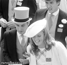 Royal Ascot 1985-Prince Andrew and then girlfriend Sarah Ferguson