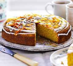 This fruity bake has a whole orange whizzed up and added to the batter for a zesty teatime treat
