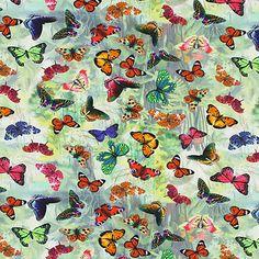 Dżersej Butterfly Forest - Bawełna - Elastan - zieleń liści lipy