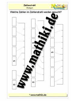 Zahlenstrahl ergänzen im Zahlenraum bis 10 - ©2011-2016, MATHiki.de | Mathe-Arbeitsblätter & Lösungen #math #arbeitsblatt #worksheet