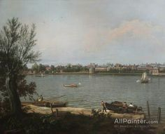 Giovanni Antonio Canal (called Canaletto),Chelsea From The Thames At Battersea Reach oil painting reproductions for sale