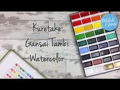 Kuretake Gansai Tambi Watercolor Review, Set Up & How To