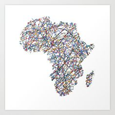 Africa+:+Abstract+drip+painting+art+Art+Print+by+Design511+-+$20.00