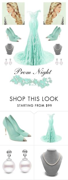 """Mint & Pearls"" by totalteenagenobody ❤ liked on Polyvore featuring Gianvito Rossi"