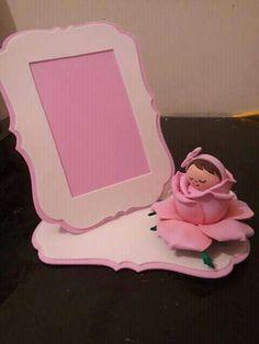 porta retrato bebe en rosa