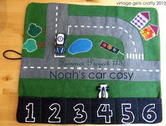 Virtage Gets Crafty: Summer Project #5: Noah's Car Cosy and Race Track