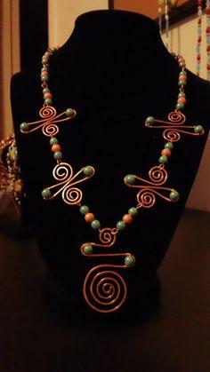 SOUTHWEST DESIGN copper necklace by Natjerm on Etsy, $15.00
