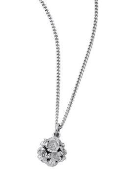 Karen Walker Jewellery for Women   Flower Ball Pendant in Silver   Incu $159